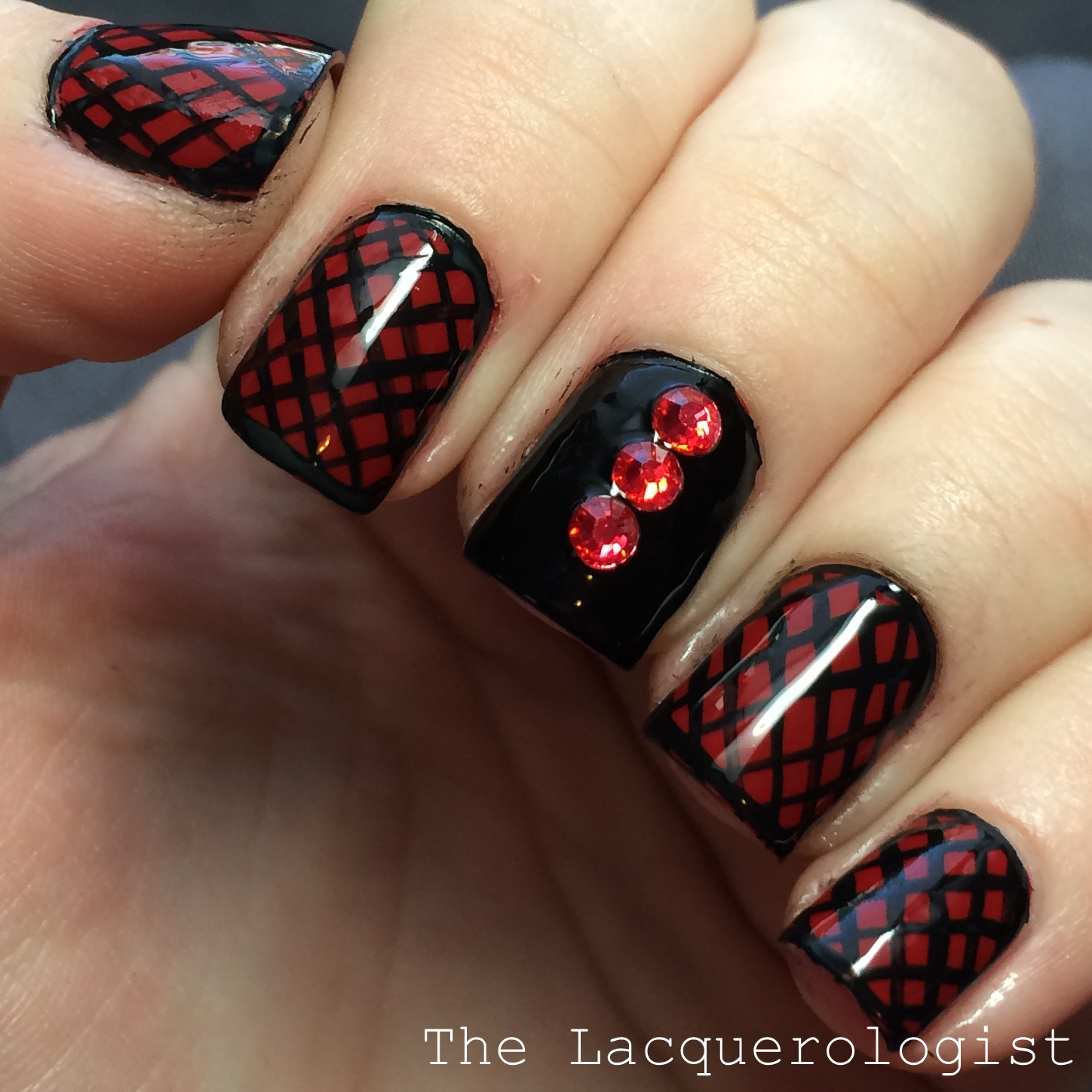 Valentines Day Sexy Red Black Nail Art Casual Contrast