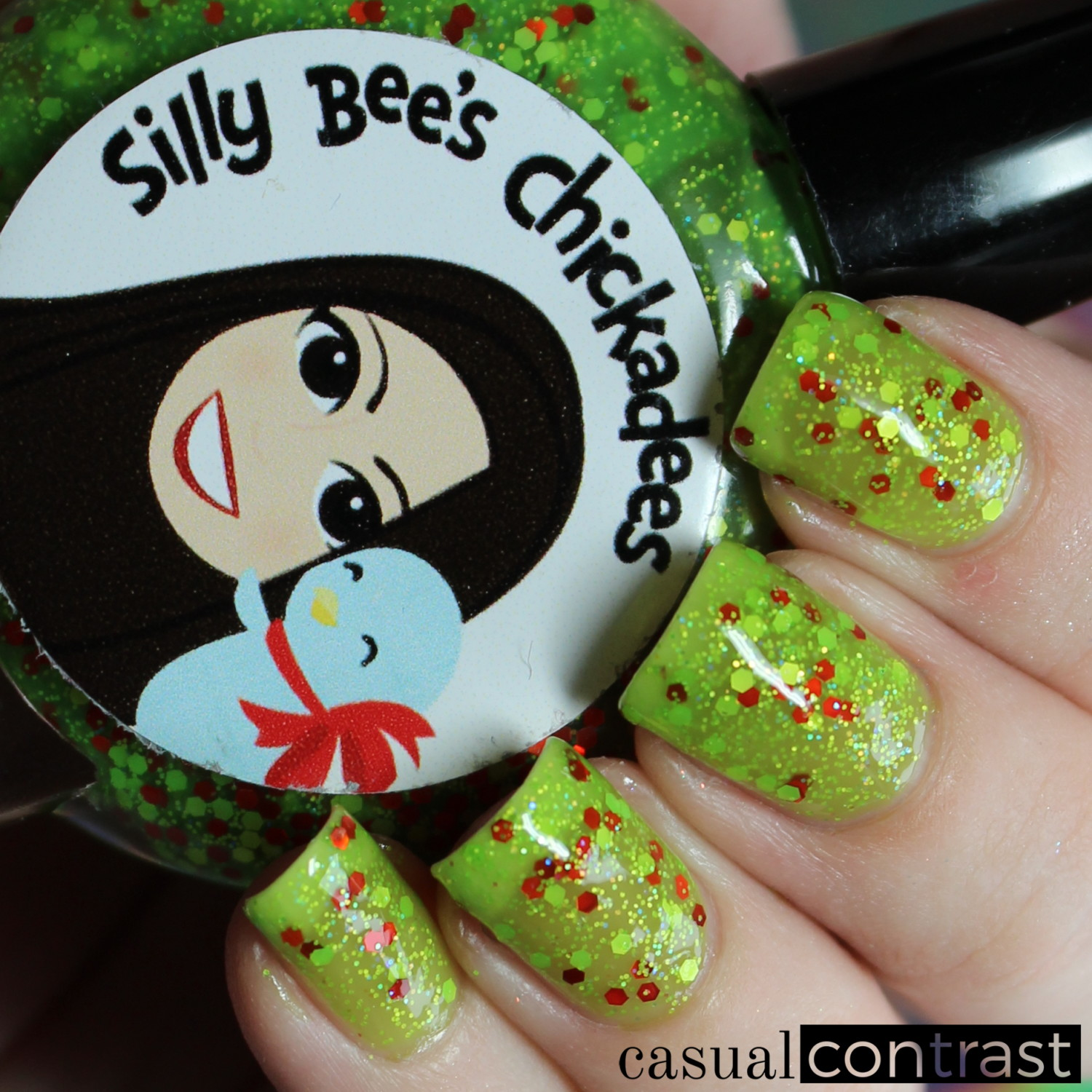 Image of Silly Bee's Chickadees Emily's Grinchy Winter nail polish